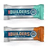 Clif Bar - Builder's Protein Bar Variety Pack, 20g of Protein (Chocolate Mint & Chocolate Peanut Butter) | 18 Count
