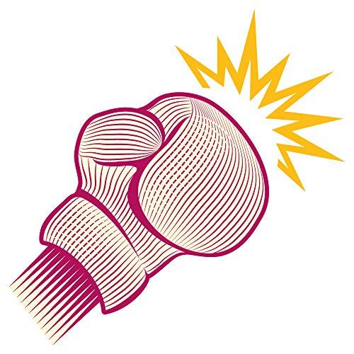dekodino® Wandtattoo Kampfsport Box Handschuh in rosa Wandsticker Jugendzimmer