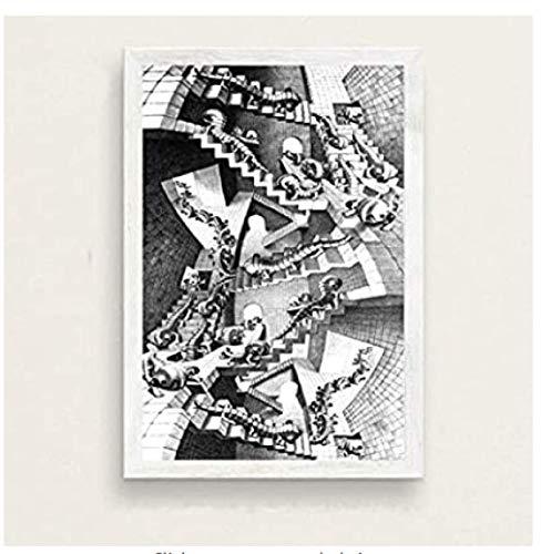 JYSHC Rompecabezas De 1000 Piezas, Imagen De Montaje Escher, Surrealismo para Adultos, Arte Geométrico, Juego para Niños, Juguetes Educativos Kd105Hz