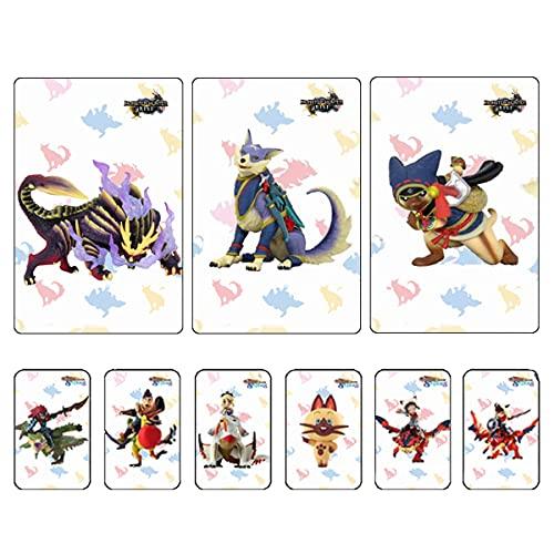 9PCS für Monster Hunter Rise NFC Amiibo Minikarte mit Kristallbox. Dazu gehören: Palamute, Palico, Magnamalo. Kompatibler Switch, Switch Lite, Neue 3DS.Third Party Card.