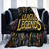 KGSPK Ultra-Soft Micro Fleece Blanket,Vay-ne League of Legends Wallpaper,Home Decor Warm Throw Blanket for Couch Bed,80'X 60'