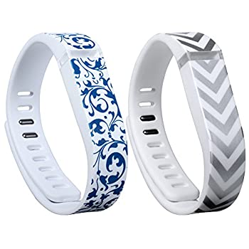 I-SMILE 2pcs Replacement Bands with Metal Clasps Wireless Activity Bracelet Sport Wristband for Fitbit Flex No Tracker Replacement Bands Only  & Silicon Fastener Ring