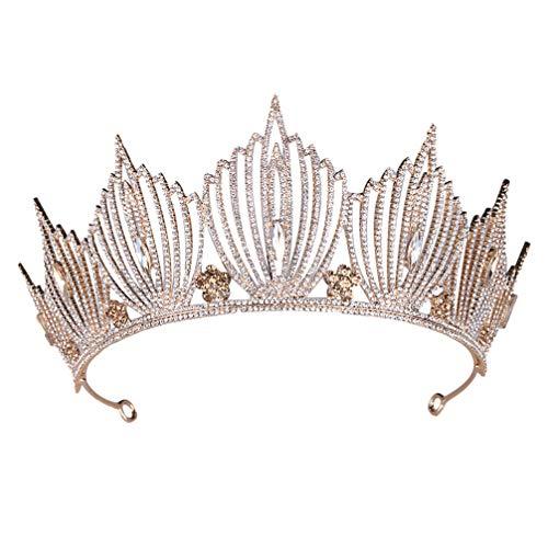 Lurrose Diadema Barroca Y Corona Diadema Corona de Reina Tiara de Diamantes...
