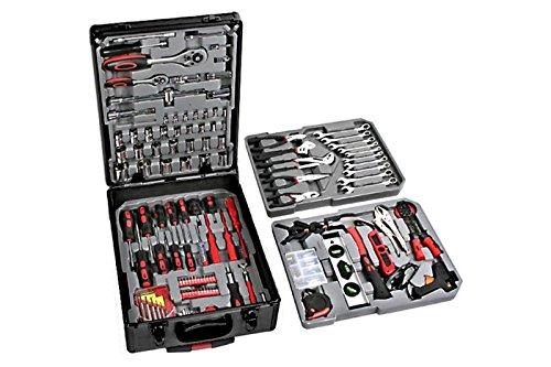 Valigia cassetta attrezzi da lavoro completa Trolley kit utensili set 186 pz GrecoShop