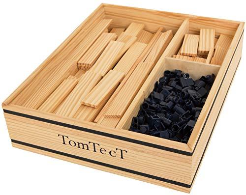 TOMTECT - Jeu de Construction en Bois - 500 Pièces - Jeu Créatif - Dès 5 Ans - Stimule Concentration et Motricité - Ecologique