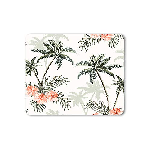 Moslion Palm Trees and Cheetah Floral Mouse Pad Vintage Outdoor Tropical Leaves Exotic Jungle Gaming Mouse Mat Non-Slip Rubber Base Thick Mousepad for Laptop Computer PC 9.5x7.9 Inch