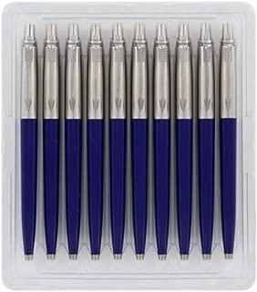 Parker Jotter London Standard Blue Retractable Ballpoint Pen, Blue Ink, 10/Pack