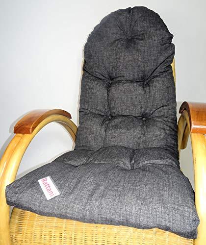 Rattani Auflage/Polster für Schaukelstuhl, Liegestuhl, Ersatzpolster Gr. 130 x 50 x 12 cm, Stoff Nuevo Loneta - Made in EU