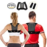 Posture Corrector for Men and Women, SGODDE Adjustable Shoulder Spinal Support Posture Correction Back Brace , Physical Therapy Clavicle Brace for Hunchback, Upper Back & Shoulder Pain Relief