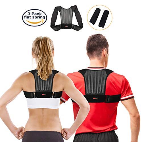 Corrector de Postura, SGODDE Korrigie Reflectantes Postura de Banda, Ajustable Postura Trainer Transpirable Hombro Espalda Postura - Vendaje para Hombre y Mujer, y Niños