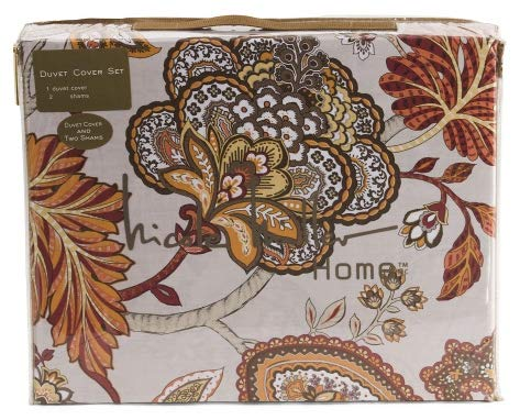 Nicole Miller Floral Paisley Cotton Sateen Duvet Set - 3pc King Set