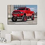HRUIO Lienzo Vehículo camioneta Dodge Ram Rojo impresión HD pinturahogar Pinturas dormitorios Modernos decoración-30 * 40cm