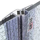 STEIGNER Magnetduschdichtung SET, 201cm, Glasstärke 3,5/4/ 5mm, Ersatzdichtung für 180 Grad Duschtür, UKM03, 2 Stück