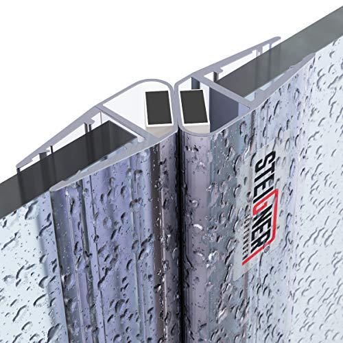 STEIGNER Magnetduschdichtung SET, 201cm, Glasstärke 6/7/ 8mm, Ersatzdichtung für 180 Grad Duschtür, UKM04, 2 Stück