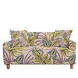 WXQY Funda de sofá elástica con Estampado de Plumas Funda Protectora de Muebles Funda de sofá Anti-Sucio de Cuatro Estaciones A3 4 plazas