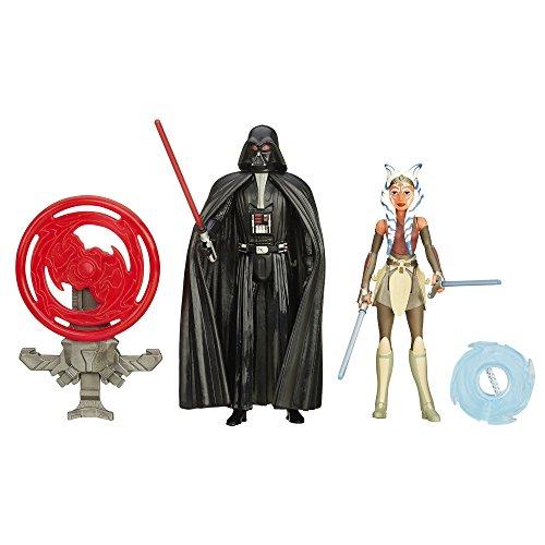 Star Wars Rebels - Statuetta di Darth Vader e Ahsoka Tano, 3,75 cm, confezione da 2