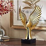 Figurines,Statues,Statuette,Sculptures,Golden Creative Home Decor Eagle Wing Abstract Sculpture Decoration Figurine Resin Hawk Statue Tv Background For Living Room Bedroom Bookcase Desktop Home Decora