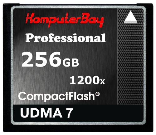KOMPUTERBAY 256GB Professional COMPACT Flash Card CF 1200X Write 140MB/s Read 180MB/s Extreme Speed UDMA 7 RAW 256 GB