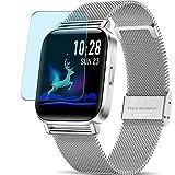 Vaxson 3 Stück Anti Blaulicht Schutzfolie, kompatibel mit CanMixs ZX08 smartwatch Smart Watch, Displayschutzfolie Anti Blue Light [nicht Panzerglas]