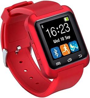 QCHNES Bluetooth Smart Watch, Podómetro De Reloj De Fitness con Pantalla Táctil Soporte para Cámara Tarjeta TF Llamada con Manos Libres, Resistente, Anti-arañazos, para Android iOS