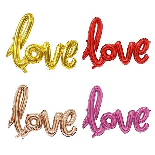 WEIZI 100 globos redondos de látex con forma de globo para bodas, fiestas de cumpleaños, para niños, para decoración de balones o joyas (color: 1 globo de amor)