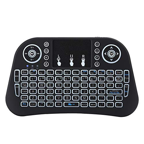 Semiter 2.4G Wireless with Touchpad Black Colorful Lighting Mini Mini Keyboard with Touchpad, i10 Portable Portable Keyboard, for Travelling Gaming