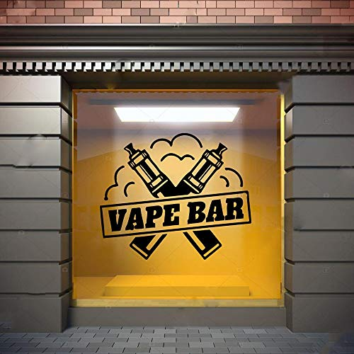 Etiqueta de la pared Tienda Arte Etiqueta de la pared Vinilo Decorativo Puerta Decoración Bar Logotipo Patrón
