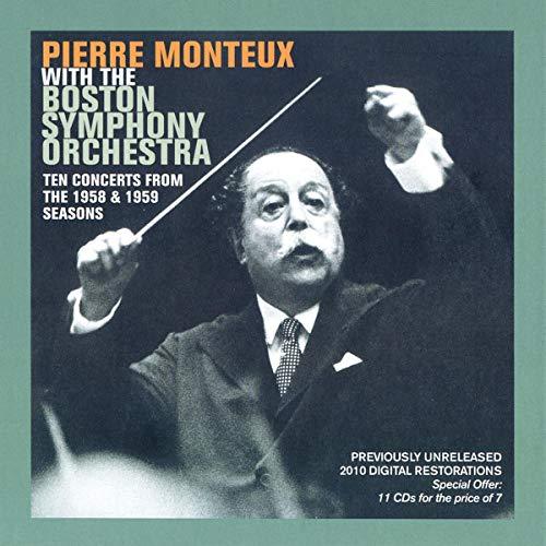 Pierre Monteux und das Boston Symphony Orchestra - 10 Konzerte 1958 & 1959