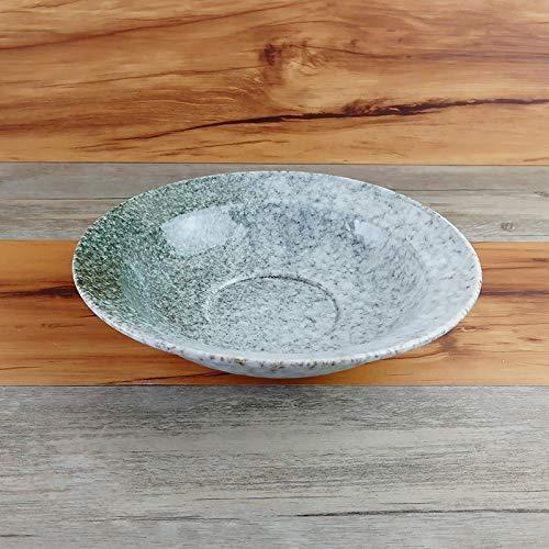 BZAHW Handbemalte underglaze japanischen Hauptwindobstsalat Dessert Platter Snack-Gericht gebratener Reis Nudeln Pfanne Erdnuss Platte (Color : Stone Pattern, Size : 8 inches)