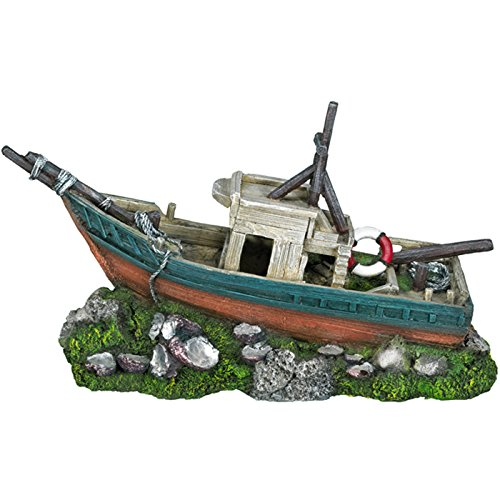 Nobby Bateau Décoration pour Aquarium 34 x 12,5 x 19,7 cm