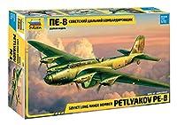 ズベズダ 1/72 ソビエト連邦軍 ペトリャコフPE-8 ソビエト爆撃機 プラモデル ZV7264