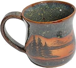 Mountain Scene Mug in Seamist Glaze