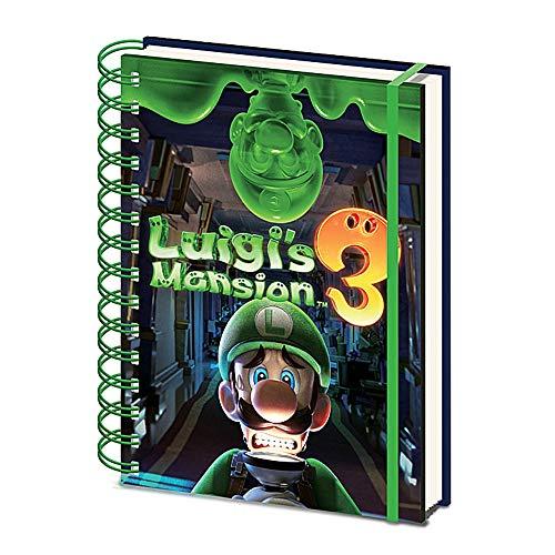 Libreta de notas de Luigi's Mansion 3 Gooigi A5 con tapa dura