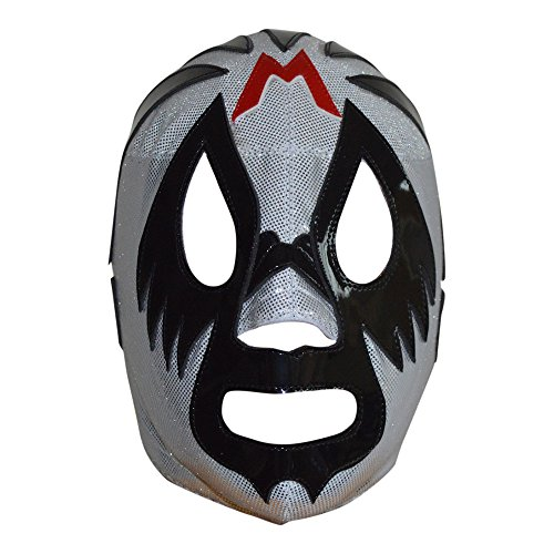 Mil Mascaras Semi-Professional Lucha Libre Mask Adult Size Luchador Wrestling Mask Silver Premium Quality