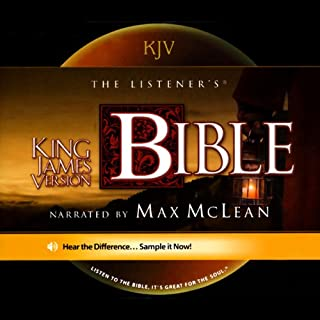 The Listener's Bible     King James Version              By:                                                                                                                                 Fellowship for the Performing Arts                               Narrated by:                                                                                                                                 Max McLean                      Length: 82 hrs and 58 mins     70 ratings     Overall 4.5