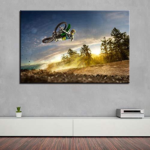 Leinwandbilder Wandkunst HD Drucke Poster Motocross Limit Gemälde Extremsport Motorrad Rennen Wohnkultur 30x40 CM (Kein rahmen)