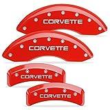 MGP Caliper Covers 1988-1996 C4 Corvette Brake Caliper Covers - Red with Silver