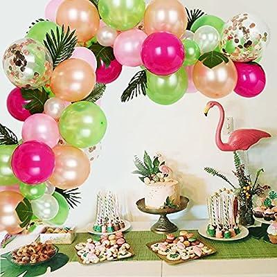 Amazon Promo Code for Tropical Hawaiian Balloons Garland Arch Kit 83 Pieces 23072021015129