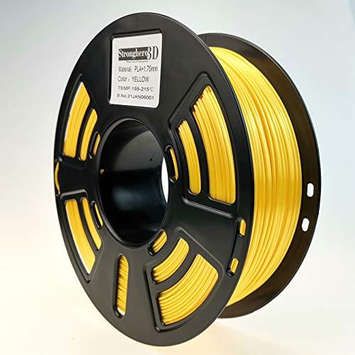 Stronghero3D Desktop FDM 3D Printer Filament PLA Yellow 1.75 mm 1 kg (2.2 lbs) Dimension Accuracy of +/- 0.05 mm for Ender3 Cr10