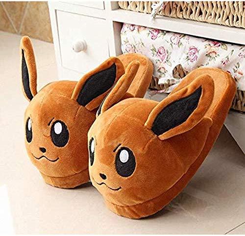 Zapatos de Piel para Mascotas Zapatillas de Dibujos Animados Zapatos cálidos para el hogar Zapatillas de Dormitorio Interiores Zapatillas de muñeco de Peluche