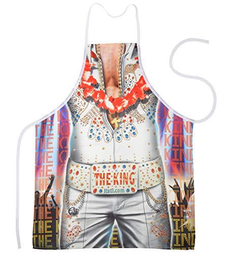 trag-das Schürze - Scherzartikel für Geburtstag Weihnachten Karneval - Elvis The King