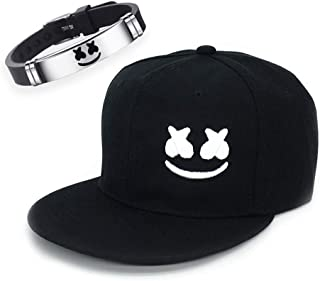 Cool DJ Music Hat & Bracelet, Cute Smiley 3D Embroidery...