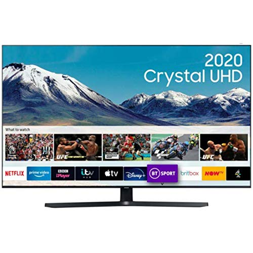 Samsung UE50TU8502 [2020 Model], Smart TV 50  LED Crystal Ultra HD 4K, Wi-FI, Bt, 2x Hdmi, 1x Usb, Ethernet, Alexa integrata, Dolby Audio 2x10W (127 cm) (piedistallo centrale)