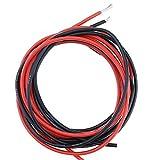Fil électrique souple et flexible à isolation en silicone, résistant aux températures élevées - Torons en cuivre - 10AWG 12AWG 14AWG 16AWG 18AWG 20AWG 22AWG - Rouge et noir