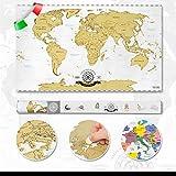 Scrape Off World Map- Mappa del mondo da grattare via Deluxe XXL - edizione italiana...