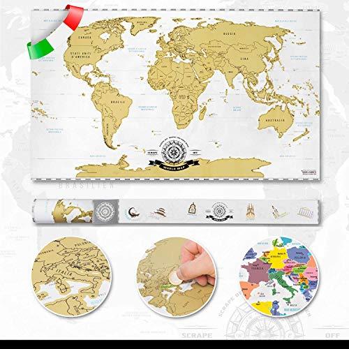 Scrape Off World Map- Mappa del mondo da grattare via Deluxe XXL...