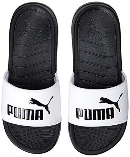 Puma Unisex-Kinder Popcat 20 Jr Zapatos de Playa y Piscina, Weiß White Black, 38 EU