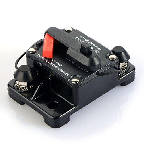 Asdomo Circuit Breaker Car Auto Audio Circuit Breaker DC 12V/24V/42V 60A 80A 100A 150A 200A 250A 300A