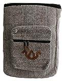 Mochila de fibra de cáñamo/ Mochila de cáñamo / mochila de día de cáñamo / mochila para la escuela, viajes, ocio, exterior – hecha a mano en Nepal - modelo 57, gris