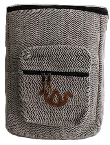 Mochila de fibra de cáñamo/ Mochila de cáñamo / mochila de día de
